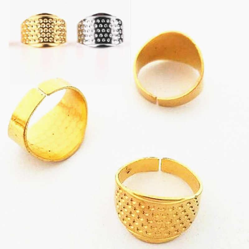 1PCS Retro Finger Protector Antiek Vingerhoed Ring Handworking Naald Vingerhoed Naalden Craft Huishoudelijke DIY Naaien Accessoires