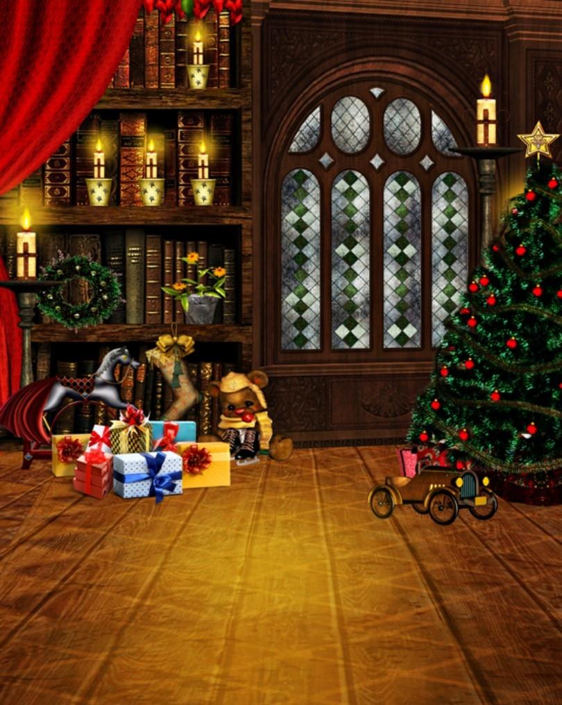 200cmX150cm christmas backdrops photography holiday gift newborn ...