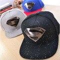 High Quality Gorras Men Women Both Use Casual Baseball Cap Iron Supermen Badge Cool Snapback Caps Adjustable Size Hat CP061