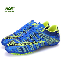 YILINGYI Sport Training Soccer Shoes Turf Breathable Air Mesh Light Weight Football Boots 2017 Footwear Sneaker