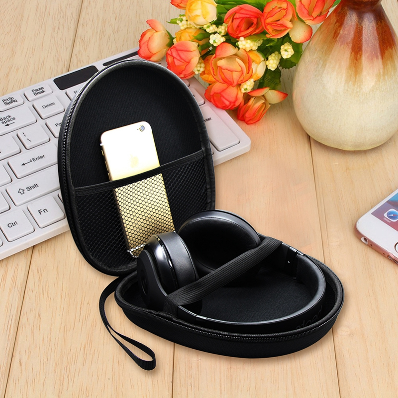 1Pc Hard Case Storage for Headphones Earphone Cable Earbuds Carrying Pouch Bag SD Card Hold Box Black