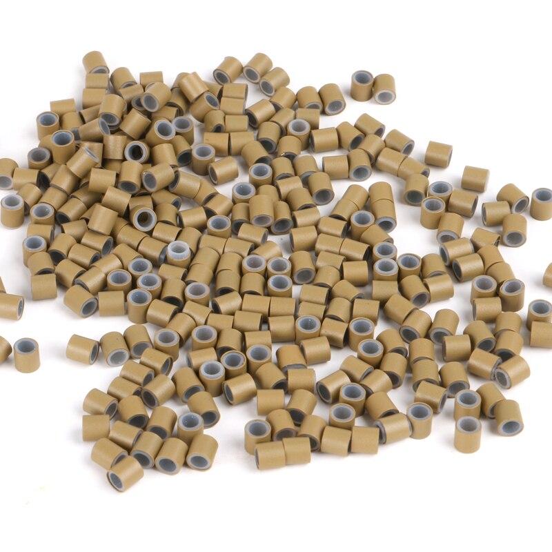 HARMONY 10000 pièces/sac 4.0*2.6*4.0mm extension de cheveux tube de cuivre de silicone pour je pointe les outils d'extension de cheveux