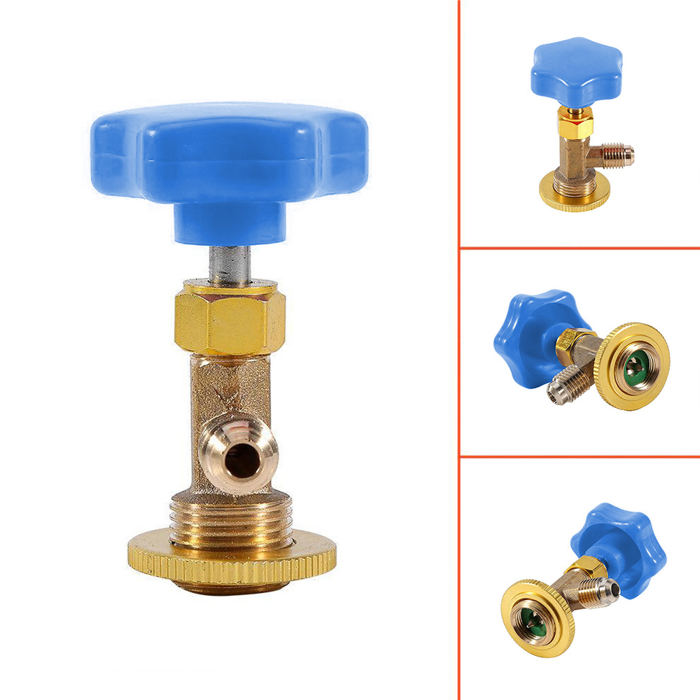 1//4 SAE Auto AC Can Tap Valve Bottle Opener For R22 R134a R410A Gas Refrigerant