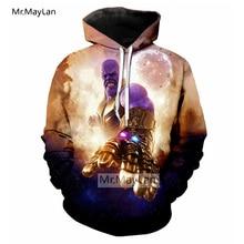 Avengers 3 Infinity War Thanos 3D Print Gauntlet Jacket Men/Women Hipster Cool Pullovers Hoodies Autumn Coat Drop ship
