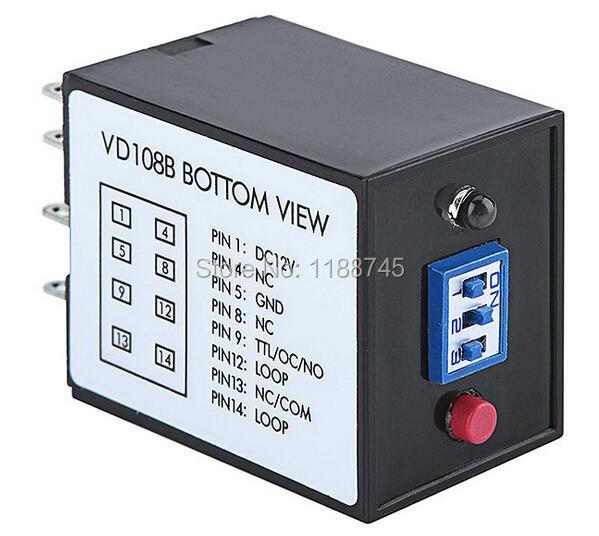 Traffic Inductive Single Loop Vehicle Detector VD108B For Barrier Gate 12V