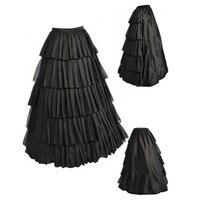 Abbille Tutu Skirt Silps Swing Rockabilly Petticoat Cotton Maxi Skirt Long Retro Skirt Petticoat Underskirt For