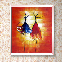 100% High Quality Hand painted Modern Abstract Oil Painting Ballet Dancer Painting Contemporary Wall Decor Artwork