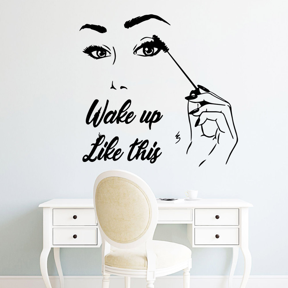 Exquisite makeup eye Wall Stickers Home Furnishing Decorative Sticker For Kids Rooms Decoration Decal Creative