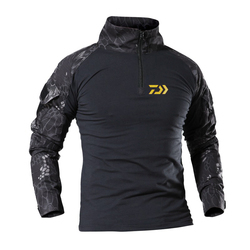 DAIWA ropa pesca Python Camouflage Rappezzatura Del Manicotto Lungo di Abbigliamento Pesca Asciugatura Rapida Traspirante di Pesca DAWA T Shirt