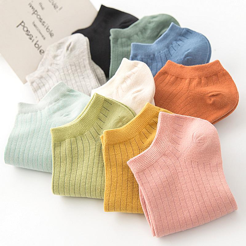 bbe1d776c29c Details about 5pairs Cotton Women Sport Sock Female Outdoor Anti-slip Socks  Striped Socks
