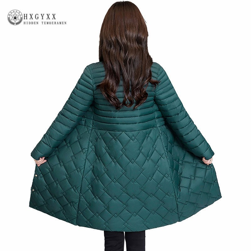 d2ecb0a7d52 Thin Cotton Padded Quilted Jacket Women Parka Female Coat Slim Stand Collar  Long Snow Clothes Warm Outwear 2019 Plus Size Oke085-in Parkas from Women s  ...