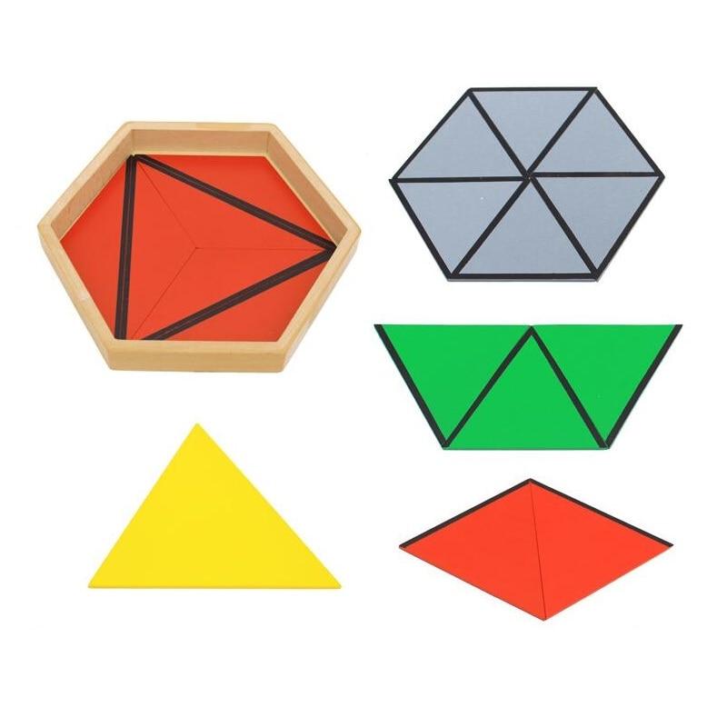Montessori aides pédagogiques enfants constituent triangle maternelle Montessori éducation précoce cadeaux d'anniversaire