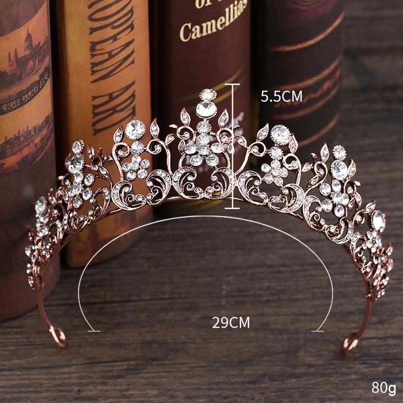 FORSEVEN femmes Vintage Baroque couronne strass cristal mariée princesse diadèmes de mariage mariée tête pièce cheveux bijoux accessoires