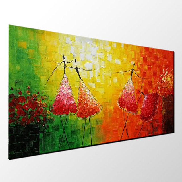 Online Shop Hand Painted Modern Abstract Art Ballet Dancer Oil