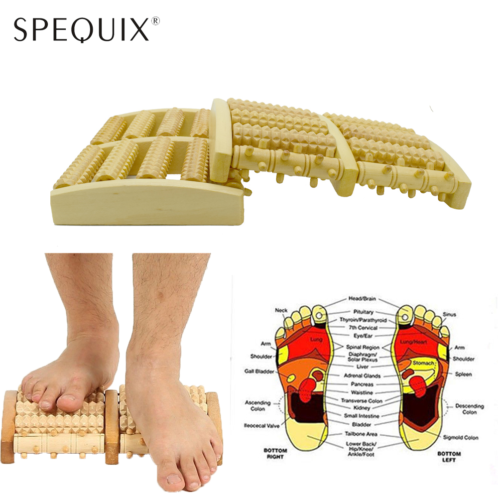 2018 Wooden Dual Foot Massager Rollers Heath Therapy Relax For Plantar Fasciitis Arch Pain Relief Reflexology Foot Massager Tool excellent quality 2 rollers relax finger joints hand massager fingers massage tool random color