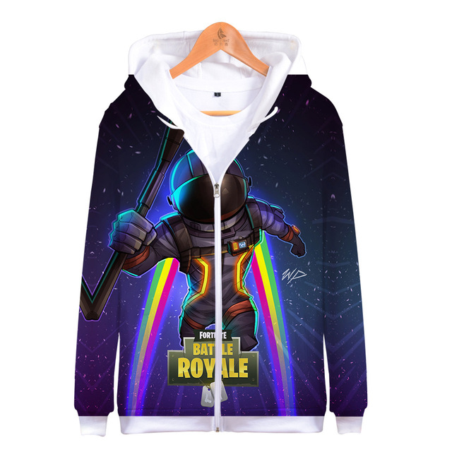 Full Print Disfraz Battle Royal 3D Zipper Hoodies Gamer Fleece Long Sleeve Game Sweatshirt Thick Hoddie For Men Winter Jackets 2