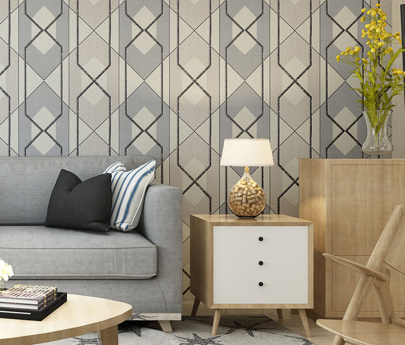 Flocking Suede Geometry 3d Wallpaper Roll for Living Room TV Background 3d Wall Paper Papel Wallcoverings 3d papel parede wallpaper for walls 3 d modern trdimensional geometry 4d tv background wall paper roll silver gray wallpapers for living room