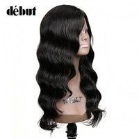 Дебютный натуральные волосы парики индийский парик из волос свободная волна парики для черных женщин натуральный цвет 100% дешевые натураль