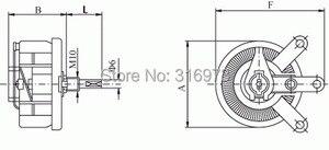 Image 3 - 200W 200 OHM High Power Wirewound Potentiometer, Rheostat, Variable Resistor, 200 Watts.