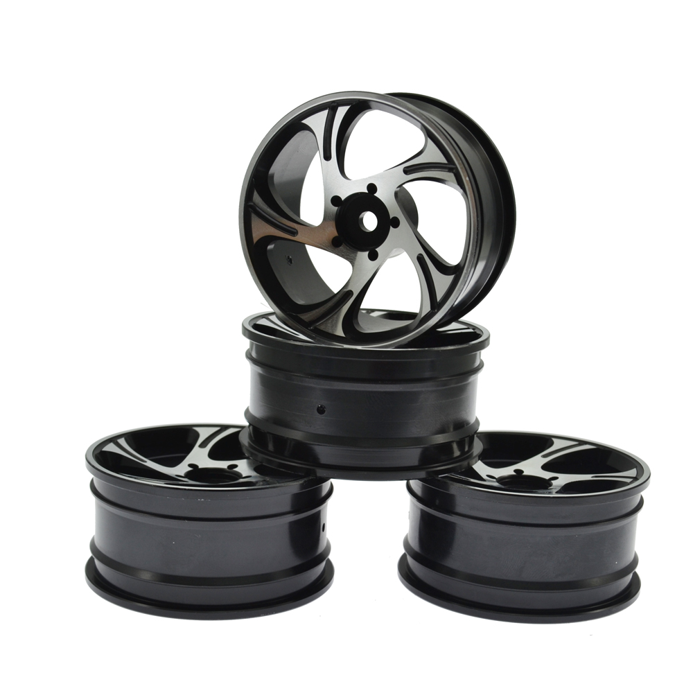 Aluminum Alloy Wheel Rims for RC 1:10 Drift On-Road Racing Car  HSP HPI Himoto Kyosho Sakura Upgrade Parts (4PCS) alloy aluminum rear hub carrier l r m604 23604 for rc car 1 18 himoto e18 electric truck buggy on road maverick ion xb ion m