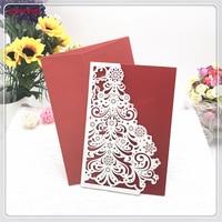 30Pcs Christmas Tree Party Invitations Card With Envelope Wedding Invitation Card Wedding Party Decoration Invitation Card 5ZH46