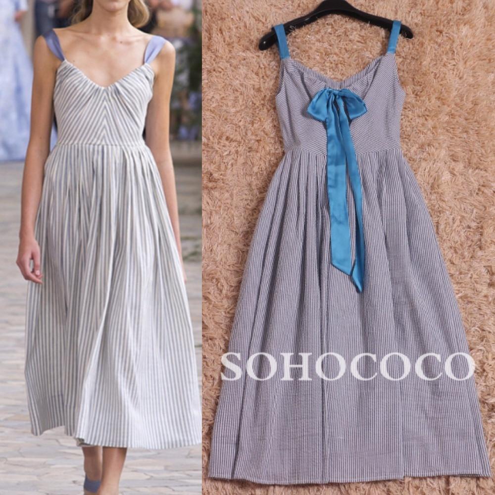 Col Multi En Chaude Longue 2017 Femmes V Vente Gaine D'été Mode Arrivée Rayé Profond Sexy De Nouvelle Robe Coton Courroie pHA0p8wxq