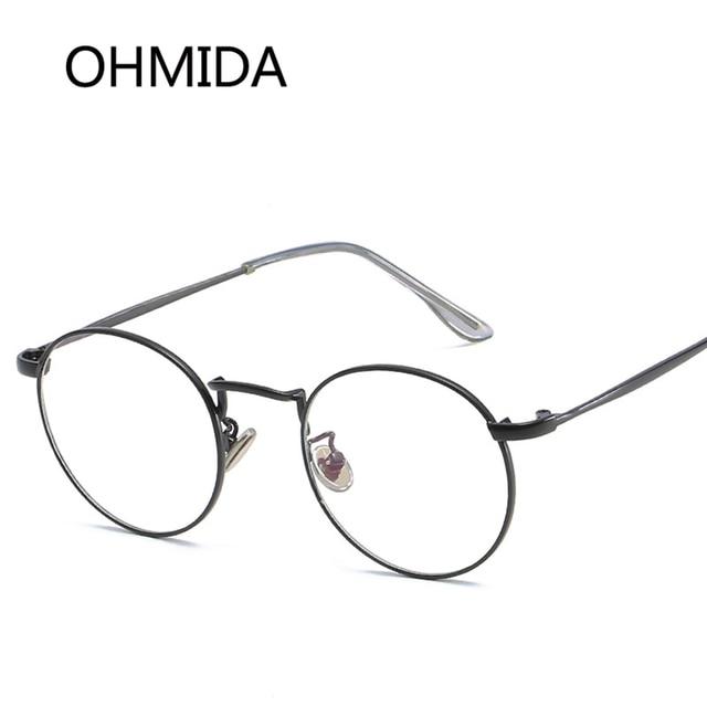 OHMIDA Classic Metal Eyeglasses Frames Women Luxury Brand Glasses ...