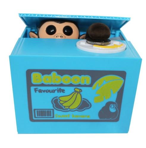 Monkey Lovely Piggy Bank Money Box Xmas Christmas Gift Free Shipping