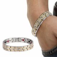 Top Sale 4 In 1 Bio Energy Germanium Bracelet Negative Ion Aimant Magnet Armband FIR Health