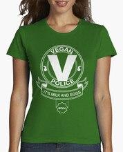 """Funny yet cool """"Vegan Police"""" girlie / women's shirt"""