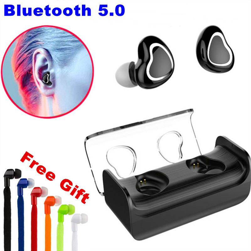 E-XY TWS Bluetooth Earphones True Wireless Earbuds Bluetooth Earphones & Headphones Headset in Ear with Charging Box for Samsung