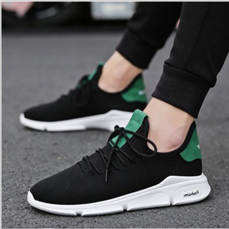 Original Spring New Net Shoe Man Breathable Cloth Shoes Tide Black Lattice Strap Shoe Men's Shoes