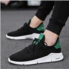 cfdc25d779 HEFLASHOR Novos Homens Vulcanize Sapatos Conforto Casual Sneakers Homens  Desgaste-oposição do Não-slip Calçados Masculinos Plus .