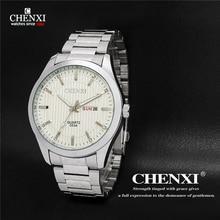 2016 Nueva Marca Dia Fecha Reloj relogio masculino hombres de Acero Inoxidable Reloj de Moda Casual Reloj de Pulsera de Cuarzo Relojes de los hombres
