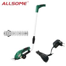 2 в 1, 7,2 в, электрическая газонокосилка, перезаряжаемый триммер для газонов, обрезка, литиевая электрическая газонокосилка, садовые ножницы для забора