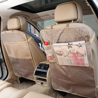 LUNDA Kick Mats Back Seat Protectors Storage Organizer Pocket Best For Protection From Kid S Dirt