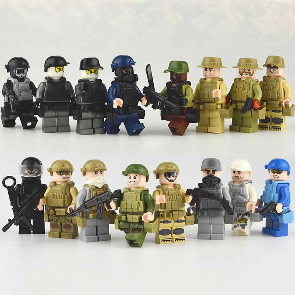 16 Types Children's Puzzle Dolls Camouflage Army Human figure Toys Gift  MIni Soldier Fans Model Toys Collection