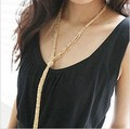 All-match Multi-layer Tassel Long Necklace Vintage Design Sweater Collares Gold Necklace for Female Fringed Kolye
