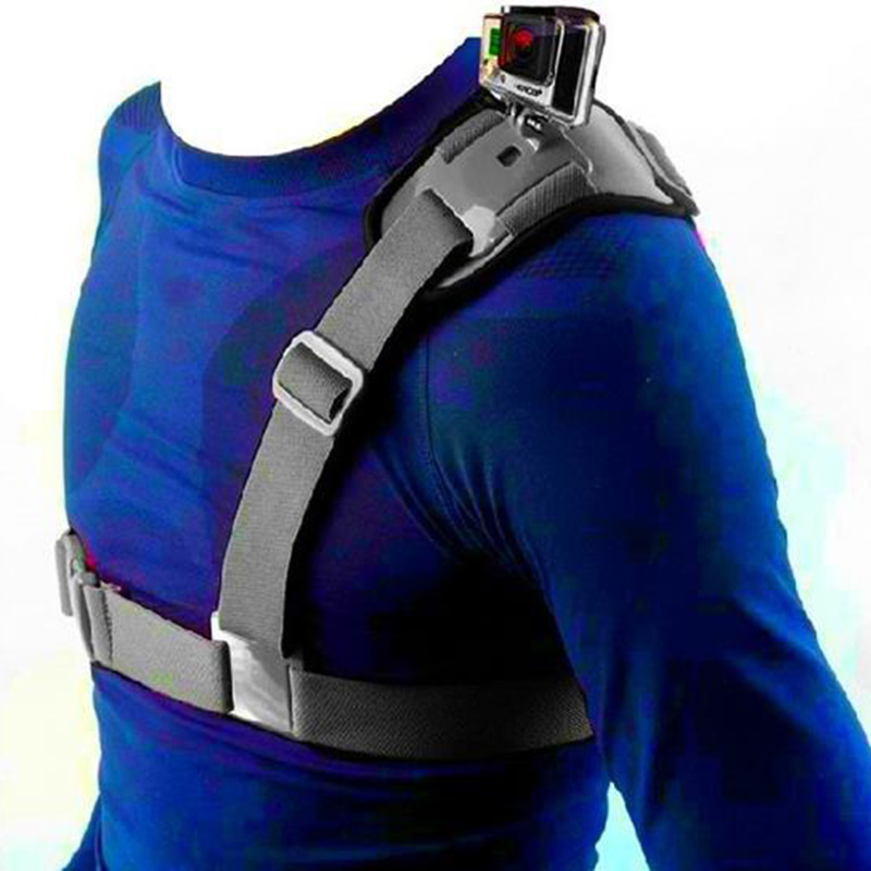 Newly  Single Shoulder Chest Strap Mount Holder Pro Belt Fix For GoPro Sport Camera Cycling DC128