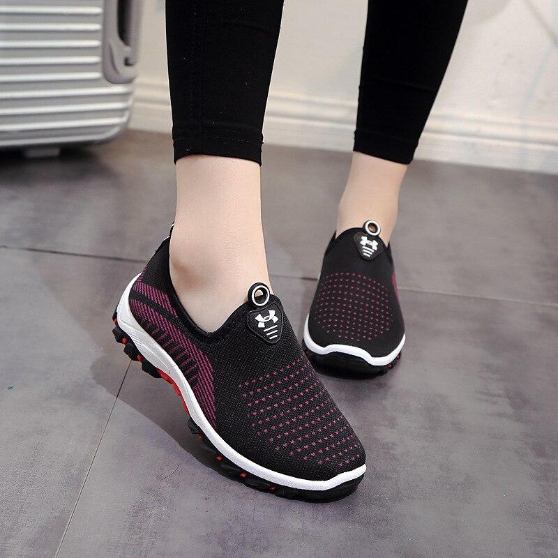 Frau Casual Schuhe Atmungsaktiv 2018 Turnschuhe Frauen Neue Ankünfte Mode Mesh Turnschuhe Schuhe Frauen Flache Niedrige Komfort Zapatillas