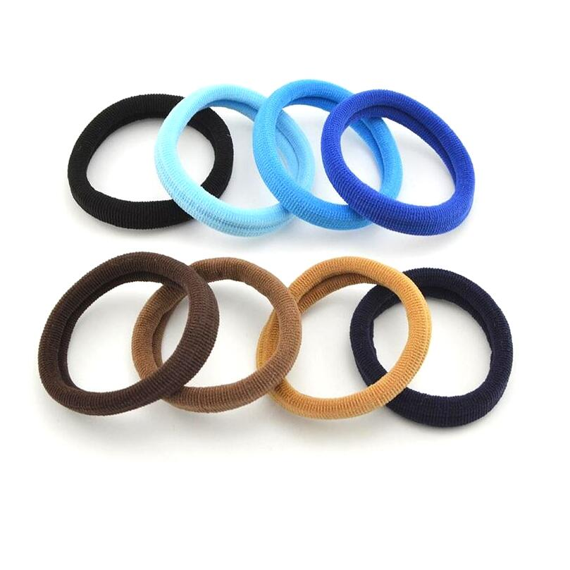 100 Pcs/Lot 5 Cm Rubber Band Gum Hair Coffee Blue Hair Bands Black Hair Holders High Elastic Hair Accessories For Women Girl