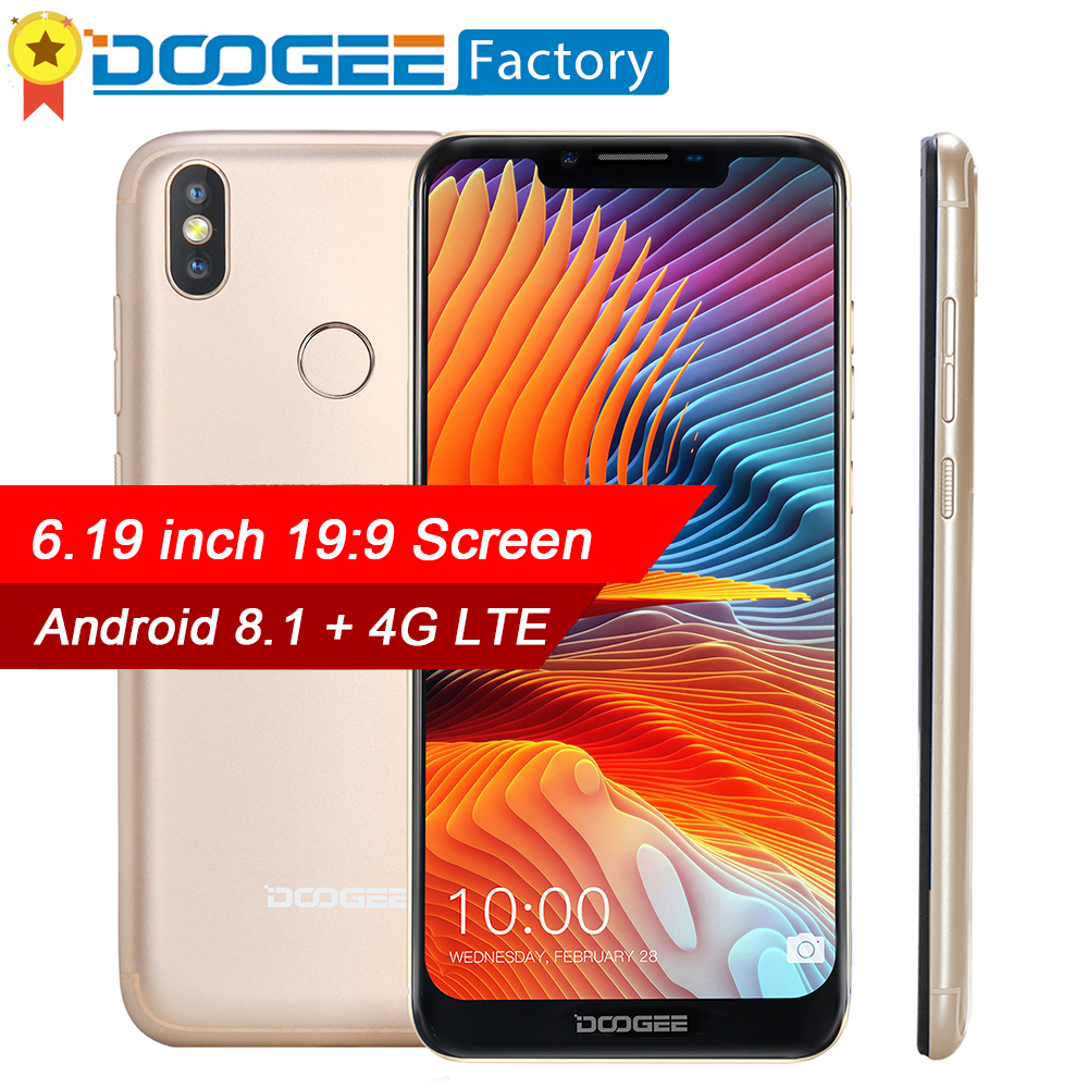 DOOGEE BL5500 Lite Android 8 1 Smartphone 6 19 19 9 Screen 13 0MP Mobile Phone
