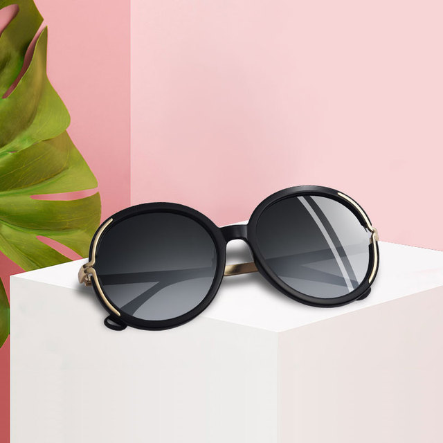 AOFLY BRAND DESIGN Vintage Oversized Sunglasses Women Metal Legs Polarized Sunglasses Round Lens Eyewear A126 1