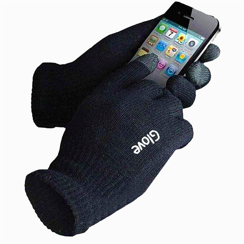Модные яркие мобильного телефона Touch Прихватки для мангала смартфон водительские перчатки подарок для мужчин и женщин зимние теплые Прихва...