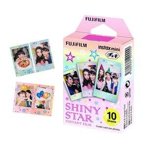 Image 3 - Для Fujifilm Instax Mini 11 8 9 25 90 пленочная камера, 50 листов мгновенная фотография Радуга, полоса, блестящая Звезда, конфеты поп, витражное стекло