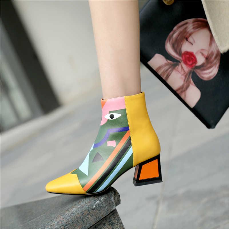 FEDONAS אופנה מותג נשים קרסול שלג מגפי חם עקבים גבוהים גבירותיי נעלי אישה מסיבת חתונה משאבות בסיסי אמיתי מגפי עור