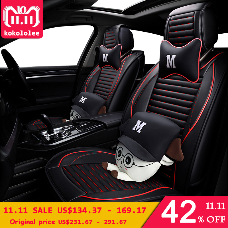 KOKOLOLEE de la pu cubierta de asiento de cuero de coche para volkswagen passat b5 polo 6r polo sedan vw polo 9n auto accesorios coches-estilo