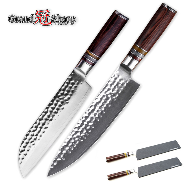 Damascus Knife Sets vg10 Japanese Steel Damascus Kitchen Knives Chef Santoku Knife 67 layers High Carbon Stainless Steel Tools