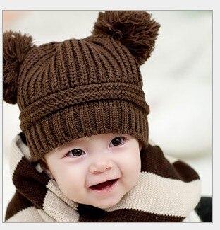Hot Selling 2015 Korean New Fashion Baby Girls Boys Kids Dual Ball Knit font b Sweater