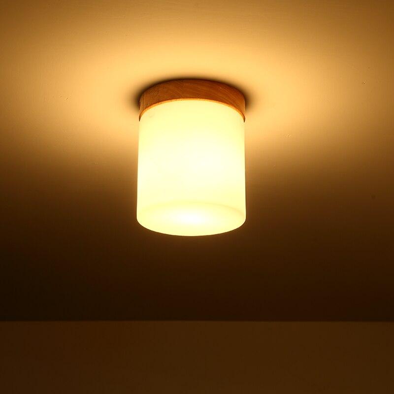 led e27 Nordic Wooden Glass LED Lamp.LED Light.Ceiling Lights.LED Ceiling Light.Ceiling Lamp For Foyer Bedroom Dinning Room